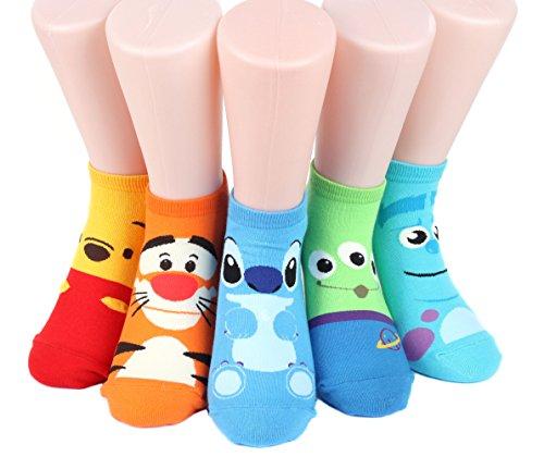 disney-rascal-sneakers-womens-socks-5-pairs-made-in-korea