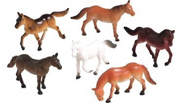 Horse Party Favor Cake Decorations - Pack of 6 - Non Edible (Party Edible Favors)