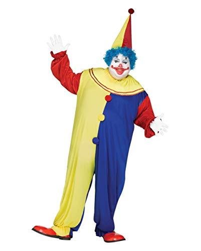 Horror Clown Kostüm Plus Size für Fasching & Halloween XL