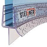 STEIGNER Duschdichtung, 90cm, Glasstärke 6/ 7/ 8 mm, Vorgebogene PVC Ersatzdichtung für Runddusche, UK03