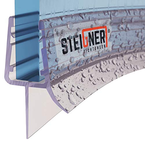STEIGNER Duschdichtung, 70cm, Glasstärke 6/7/ 8 mm, Vorgebogene PVC Ersatzdichtung für Runddusche, UK03