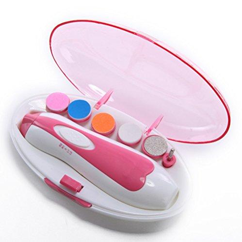 Baby Nail File-Safe Baby-Nagelknipser für Neugeborene oder Kleinkind Zehen und Fingernägel Electric (Pink)