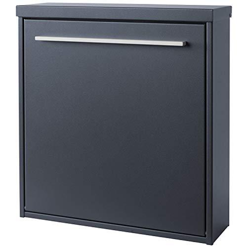 MOCAVI Box 99 Moderner Design-Briefkasten anthrazit-grau (ral 7016) mit Schloss, deutsche Markenqualität - 2