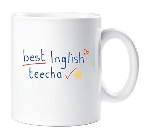 Becher Best Englisch Lehrer Becher Lehrer Geschenk Danke Lehrer Weihnachten Neuheit Humor spassig (Weihnachten Becher)