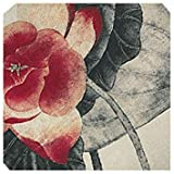 Retro Chinese Ink Painting Lotus Flower Sets Sofa Pillow Sets Black + red C6Y1
