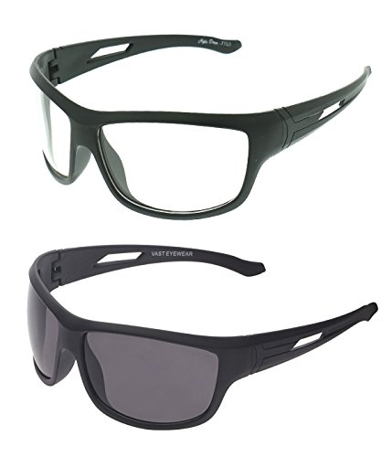 Vast Combo Of All Day UV Protection Biking And Sports Sunglasses (wk_bk)