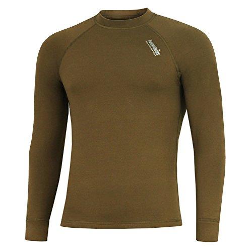 Mount Swiss Herren Thermowäsche Shirt, Davos, Khaki, Gr. XXXXXL/Thermo-Unterwäsche Langarm Unterhemd Funktionsunterwäsche Thermoaktiv