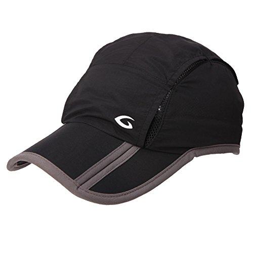SIGGI Unisex schnell-trocknend faltbar Sport Baseball Sonnen Cap UV Schutz schwarz Design Baseball-kappen