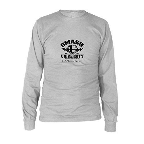Bros Kostüm Smash - Smash University - Herren Langarm T-Shirt, Größe: XXL, Farbe: weiß