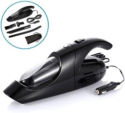 Keynice Aspirador de Portátil para coche, 80W 12V con Cable de alimentación de 13,2 pies Acción ciclónica automotiva pivotante, color Negro