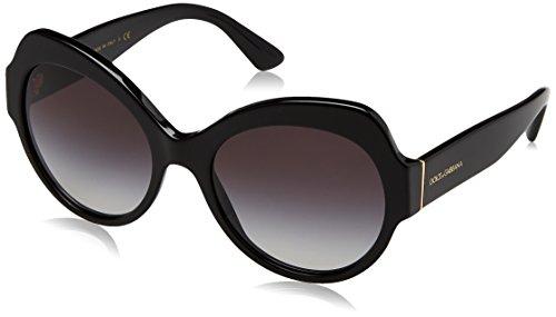 Dolce & Gabbana Damen 0DG4320 501/8G 56 Sonnenbrille, Schwarz (Black/Gradient),