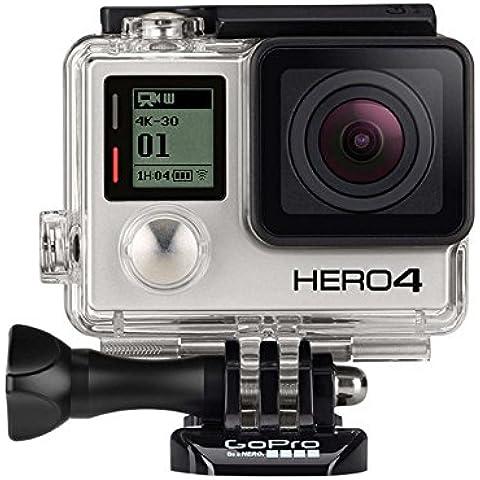 GoPro HERO4 Black Edition Adventure - Videocámara deportiva (12 Mp, Wi-Fi, Bluetooth, sumergible hasta 40 m), (versión inglesa/francesa)