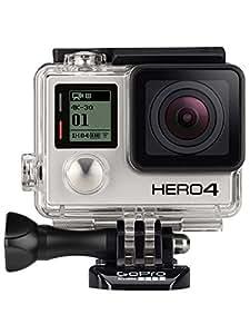 GoPro CHDHX-401-DE HERO4 Black Edition Adventure Videocamera 12 MP, 4K/30 fps, 1080p/120 fps, Wi-Fi, Bluetooth, Versione in Inglese/Tedesco