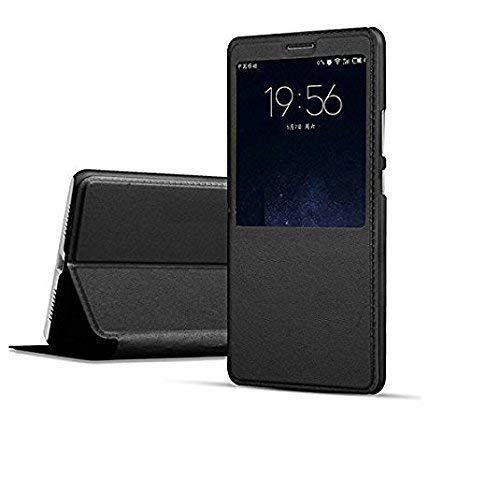 Newlike® Samsung Galaxy J6 Plus Flip Case, NewLike Double Sensor Window PU Leather NewLike Perfect Fitting Premium Quality Flip Cover for Samsung Galaxy J6 Plus - Black