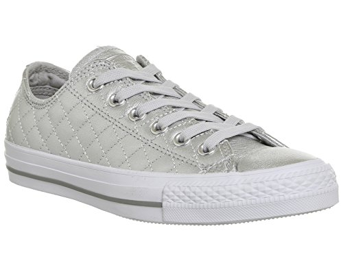 Converse  Chuck Taylor All Star Mono Ox,  Sneaker unisex adulto Silver Quilted Exclusive