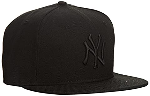 New Era - MLB Basic NY Yankees 59Fifty Fitted - Chapeau Homme, noir (black on black), 7.625