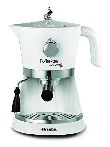 Ariete 00M133740AR0 1337 Moka Aroma Siebträger-Espressomaschine für Pulver und E.S.E.-Pads, 850 W,...