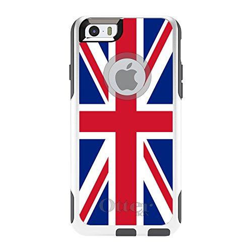 DistinctInk Fall für iPhone 6 Plus / 6S Plus-Otterbox Commuter Rot Weiß Blau Britische Flagge Vereinigtes Königreich Auf Weiß Fall - 6 Otterbox-fälle Iphone Blau