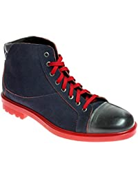 Grandiscarpe Scarpa Polacchino in Pelle Produzione Artigianale , Rosso Taglia 42