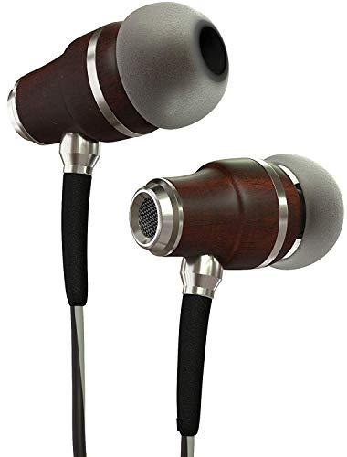 Symphonized NRG 3.0 Auriculares de Mader, con Aislamiento de Ruido, con micrófono y Control de Volumen (Negro y Gris Brumoso)