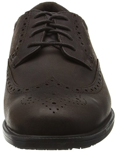 Rockport Essential Details Waterproof Wingtip, Brogues Homme Marron - Brown (Dark Brown Nubuck)