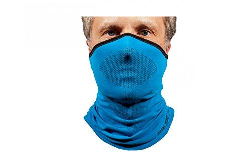 BRUBECK® X-PRO Balaclava mezza | Clima-regolazione | Maschera di protezione | Maschera Tempesta | Abbigliamento funzionale | Traspirante | Antiallergico | Antibatterico, Dimensione:L - XL;Colore:Blue