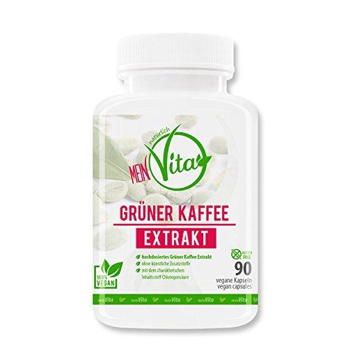 MeinVita Grüner Kaffee - 1376 mg (Tagesportion) - hochdosiert - 100% vegane Kapseln, 90 Stück (74 g)