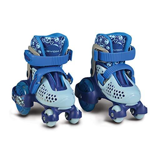 Byox Rollschuhe Beetle Größe XS 26-29, PU-Rollen, ABEC-5 Lager, Stopper hinten blau