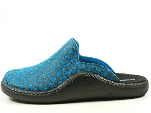 Romika 61121-54 Mokasso 121 Pantoufles femme Blau