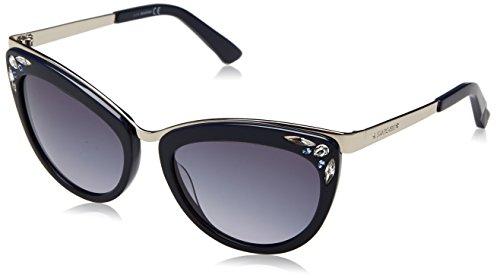 Swarovski sk0102-5690w, occhiali da sole donna, blu (shiny blue/gradient blue), 56