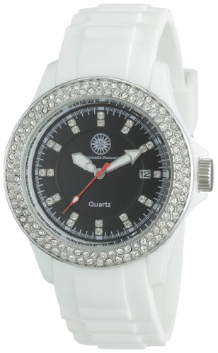 Constantin Durmont Women's Quartz Watch CD-VIVL-QZ-RBWH-PCSL-BK-C with Rubber Strap