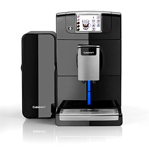 41I1CluKtBL. SS500  - Cuisinart EM1000U Veloce Fully Bean to Cup Coffee Machine, Automatic Milk, Compact, Black, Built in Grinder, 1550 W