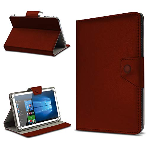 UC-Express Tasche Schutz Hülle für TrekStor SurfTab xintron i 10.1 Tablet Case Stand Cover Farbauswahl, Farben:Braun, Tablet Modell für:Acer Iconia A3-A10