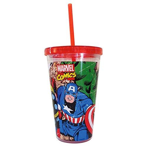 Marvel Avengers paille SIP Tasse Mug de voyage en plastique