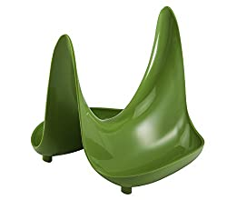 Hutzler Pot Lid Stand and Spoon Rest, Lime Green
