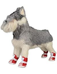 Zapatos para perros mascotas Patrón de dibujos animados para perros Malla Zapatillas antideslizantes transpirables,…