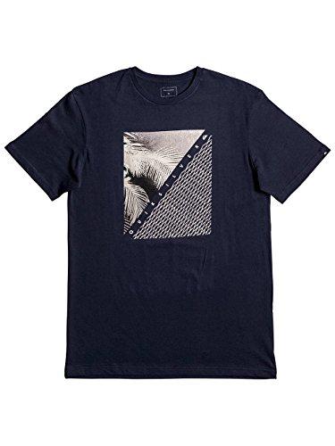 Quiksilver Herren Short Sleeve Classic Coast Lines T-Shirt navy blazer