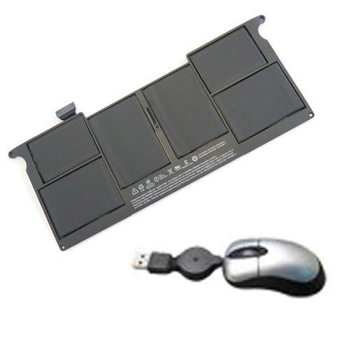 amsahr A1495-05 Ersatz Batterie für Apple MacBook Air 27,9 cm (11 Zoll) A1465 2013, MD711LL/A - Umfassen Mini Optische Maus schwarz -