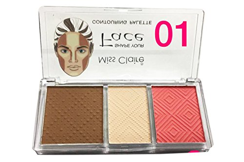 Miss Claire Shape Your Face Contouring Palette (Corrector Highlighter Blusher) S1
