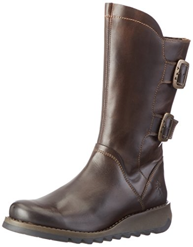 FLY London Damen Sack785fly Biker Boots Braun (Dk.Brown 001)