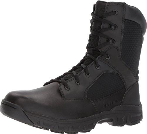 Bates Mens Code 6.2 8-inch Black Leather Boots 42.5 EU Bates Side Zip Boot