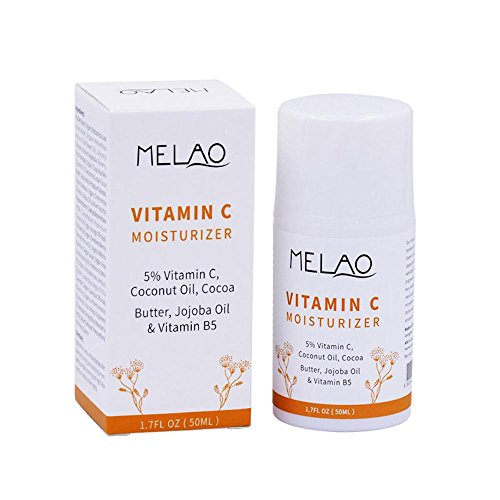 KOBWA 5% Vitamin C Gesichtscreme - Anti-Falten-Creme - mit Kokosöl, Kakaobutter, Jojobaöl & Vitamin B5 - Verfeinern Poren, Anti-Oxidation,...