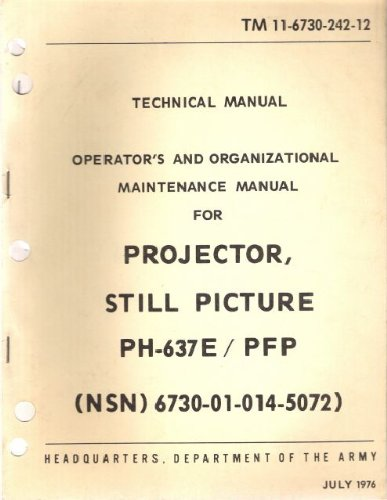 Operator's and Organizational Maintenance Manual for Projector, Still Picture PH-637E/PFP TM 11-6730-242-12