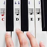 Piano stickers voor 49/61 / 76/88 Key Keyboards - transparant en afneembaar met piano eBook gratis
