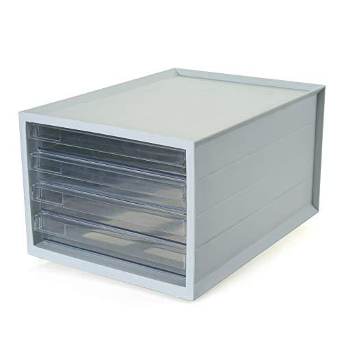Office File Sorter Schreibtisch Document Organizer Desktop-Papierordner Stationäre Bürobedarf Ablagefächer 37,7 * 27,5 * 21 cm (Pille Sorter Box)