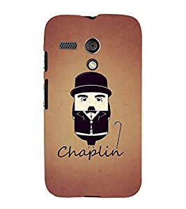 PrintVisa Black Chaplin 3D Hard Polycarbonate Designer Back Case Cover for Motorola Moto G3 :: Motorola Moto G 3rd Gen :: Motorola Moto G Gen 3