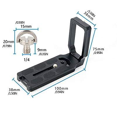 Durable Use Universal MPU-105 Quick Release Plate Bracket for Canon for Nikon D800 D700 D7000 D5100 D3100 D90 DSLR Camera Black