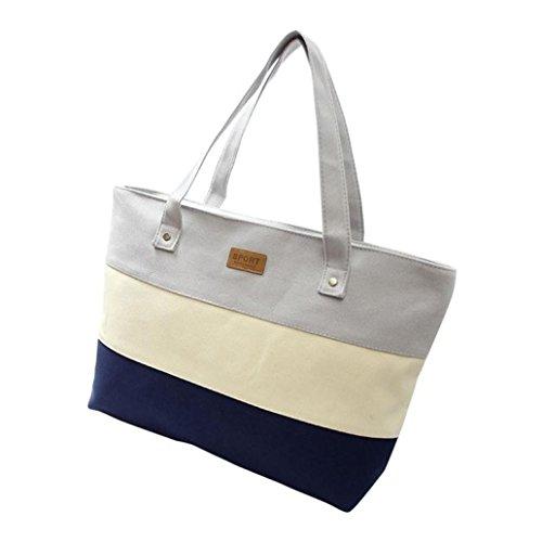 WINWINTOM Women Canvas Shoulder Messenger Bag (Gray)