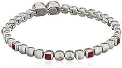 Idea Regalo - Breil Jewels Rolling Diamonds Bracciali Donna in acciaio con Swarovski, Rosso