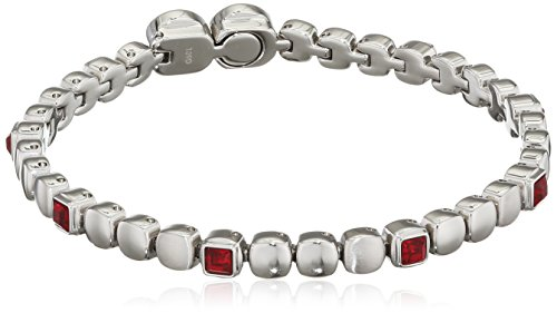 Gioiello breil collezione rolling diamonds, bracciale da donna in acciaio misura medium con con pietre - tj1455